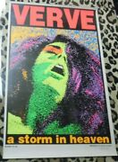 Verve A Storm In Heaven Autographed By Frank Kozik Day-glo Poster 22 X 35