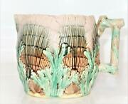 Griffen, Smith And Hill, Etruscan Majolica Shell And Seaweed, Large Pitcher, 6 3/8