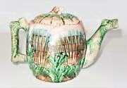 Griffen, Smith And Hill, Etruscan Majolica Shell And Seaweed, Coffee Pot, 6 1/4 B