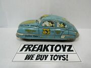 Dick Tracy Tin Friction Blue Squad Car Windup Toy