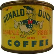 Donald Duck Coffee Can Shaped 15 Heavy Duty Usa Made Metal Advertising Sign
