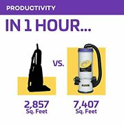 Proteam Commercial Backpack Vacuum, Super Coachvac Vacuum Backpack With Hepa Med