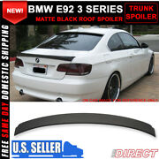 Fits 07-13 Bmw E92 3 Series Painted Matte Black Rear Roof Spoiler Abs