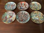 Set Of 6 Franklin Mint Various Bill Bell Plates Limited Edition, Numbered