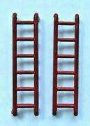 Original Pair Of Tin Red Ladders For Marx Hubley Or Wyandotte Service Trucks