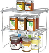 Stackable Cabinet Shelf Kitchen Cabinet Organizers And Storage 2 Pack Pantry Sh