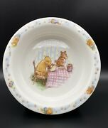 """Royal Doulton Classic Pooh Winnie The Pooh And Tigger 6-3/8"""" Baby Plate Or Bowl"""