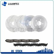 Front And Rear Discs Brake Rotors And Ceramic Pads For Ford Explorer Sport 01-02