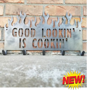 Metal Grill Sign-utensil Holder-caddy-hook-bbq-barbecue