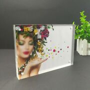 Mini Magnetic Pictures Photos Frames Freestanding Polished Clear Acrylic Display