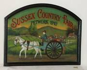 Country Corner Antique Wooden Signboard Sussex Country Fair Petwork 1910
