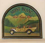 Country Corner Antique Wooden Sign Mont Blanc Visit French Alps F/s From Japan