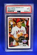 2014 Topps Opening Day Ssp Photo Variation Mike Trout Psa 9 Super Low Pop