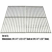 Stainless Steel Cooking Grates Grid 19 1/4 2-pack For Brinkmann Turbo Charmglow