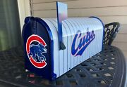 Custom Airbrushed Chicago Cubs Mailbox - All Paint Not Decal - Free Shipping