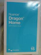 Nuance Dragon Home 15 Speech Recognition Software Dc09a-gg4-15.0 Brand New