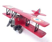 Tomy Japan 120 Spad Xiii Biplane Ww1 Fighter Plane Friction Operated Nm`76 Rare