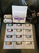 Super Nintendo Snes Console Lot W/ 12 Games Mario, Tmnt Iv, Metroid And Knights