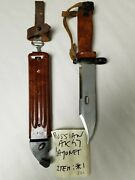 Russian Red Bakelite Bayonet Marked With A Star On The Handle.