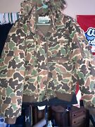 Vintage Gander Mountain Camo Camouflage Jacket Coat Menand039s L Down Puffer Hunting