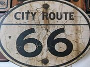 Route 66 License Plate Wood Sign Man Cave Garage Automotive Wall Hanger