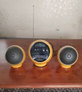 Rare Vintage 1970s Weltron Space Ball 8 Track Am/fm Stereo Model With Speakers