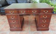 Howard And Sons Double Pedastal Desk 1880 Free Shipping England