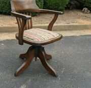 Antique English Oak Office Armchair - Mcmillan And Baker Liverpool