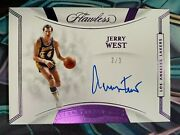 2019-20 Panini Flawless Jerry West Flawless Finishes Purple Auto Ssp 2/3