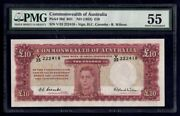 Australia 1952 £10 10 Pounds Kgvi Coombs-wilson Lucky No 222 R61 Au Cat 7000