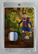 Lionel Messi 2020-21 Chronicles Illusions Jersey Patch Gold 05/10 Barcelona