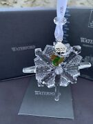 New In Box Waterford 2020 Snowstar Christmas Crystal Ornament Decor 1055097