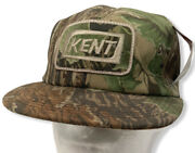 Vtg K Products Kent Patch Real Tree Camo Snapback Trucker Ag Patch Hat Cap - Nwt