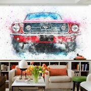 3d Ford Mustang O992 Transport Wallpaper Mural Self-adhesive Removable Amy