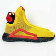 Adidas Yellow Menand039s N3xt L3v3l High-top Basketball Sock Shoes Nwt Size 16