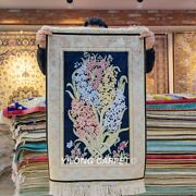 Yilong 2and039x3and039 Flower Pattern Handknotted Silk Area Rug Tapestry Carpets Y096a