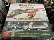 Bachmann Big Haulers Holiday Special G-scale Train And Trolley Set