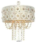 River Of Goods-1-light Champagne Chandelier With Jeweled Blossoms Shade