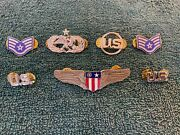 Authentic Us Usaf Air Force Lapel Pin Insignia Nh - Set Of 7 Pins