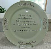 """Kenneth Grahame Wind In The Willowsthe Swinging Bridge Pottery 11 1/2"""" Plate"""