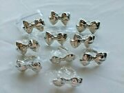 Silver-plated Bow Design Napkin Rings Set Of 10