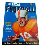 1960 Dave Campbell's Texas Footbal Magazine Annual 1st Issue Ex/mt+ Jack Collins