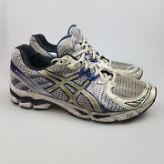 Menand039s Asics And039gel Kayano 16and039 Sz 11 Us Runners White Blue Gcon | 3+ Extra 10 Off