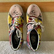 X Peanuts Charlie Brown And The Gang M 5.5 W 7 Shoe Snoopy Era Skate Sneakers