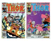 Thor 371 And 372 Newsstand 1st Time Variance Authority Vf/nm Or Better See Scans