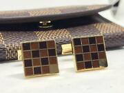 Louis Vuitton Cufflinks Square Type With Case Multicolor Mens Accessories Used
