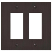 Amerelle Rocker Light Outlet/switch Wall Plate 2-gang Crack/fade Resistant Metal