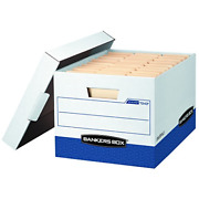 Bankers Box R-kive Heavy-duty Storage Boxes Fastfold Lift-off Lid Value Pack