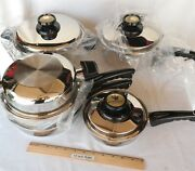 New Old Stock Kitchen Craft By West Bend 9 Piece Cookware Set Usa Very Nice