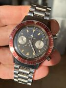 Cool 1970s Vintage Wittnauer Longines Chronograph Mens Watch Ref 3525 40mm Swiss